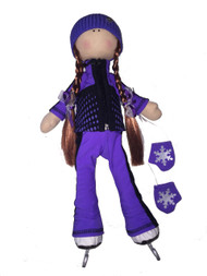 Tilda Doll by IceDress- Figure Skater - Jump Outfit  (Purple)