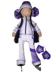 Tilda Doll by IceDress- Figure Skater - Euler Outfit  (White)