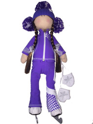 Tilda Doll by IceDress- Figure Skater - Euler Outfit  (Purple)