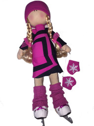 Tilda Doll by IceDress- Figure Skater - Avangard dress (Fuchsia)