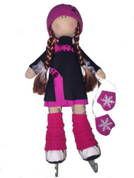 Tilda Doll by IceDress- Figure Skater - Lasso dress (Fuchsia)