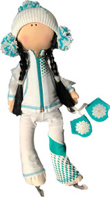 Tilda Doll by IceDress- Figure Skater - Euler Outfit  (White and Mint)
