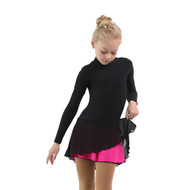 IceDress - Figure Skating Skirts - Harmony (Black with Fuchsia )