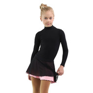 IceDress - Figure Skating Skirts - Harmony (Black with Light Pink )