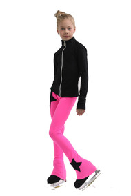 IceDress Figure Skating Pants - Thermal - Disco Dance (Black with Hot Pink)