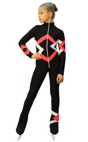 IceDress Figure Skating Outfit - Thermal - Bauer (Black, Coral and White)