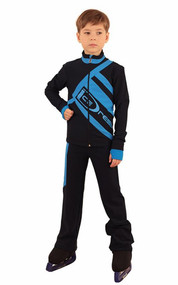 IceDress Figure Skating Outfit - Thermal - IceDress for Boys(Black with Blue  )