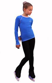 IceDress - Figure Skating Longsleeve (Blue with White)