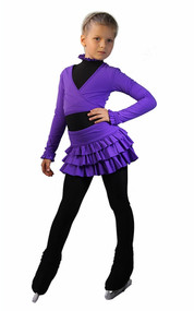 IceDress - Figure Skating Skirt s - Lambada (Purple)