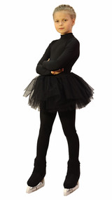 IceDress - Figure Skating Skirt s -  Tutu (Black)
