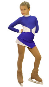 IceDress Figure Skating Outfit - Thermal - Oriental-2 (Purple and White)