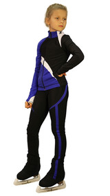 IceDress - IceDress Figure Skating Outfit - Thermal - Split (Cornflower blue)