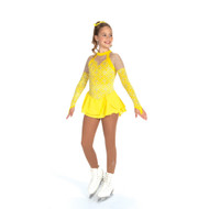 Jerry's Ice Skating Dress   - 439 Silver on Citron