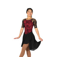 Jerry's Ice Skating Dress   - 273 Classic Lace Dance (Black/Red)