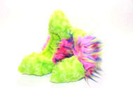 Crazy Fur Soakers CF22 - Lime Fuzzy Fur with Hot Pink, Lime and Blue Crazy Fur