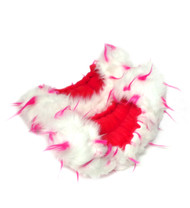 Crazy Fur Soakers  CF02PW - White and Hot Pink