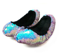 FLIPZ Mermaid Flip Sequin Figure Skating Soakers - Aqua, Purple, Gold