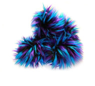 Crazy Fur Soakers - Turquoise, Black and Purple