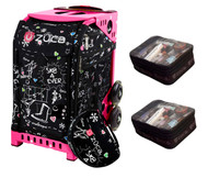 Zuca Sport Bag - Sk8 Black (Limited Edition) with Gift 2 Small Utility Pouch