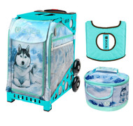 Zuca Sport Bag - Husky with Husky Lunchbox and Turquoise Seat Cover (Turquoise Frame)