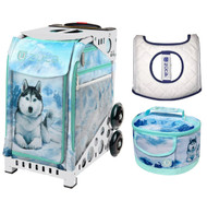 Zuca Sport Bag - Husky with Husky Lunchbox and Ice Garden Seat Cover (White Frame)
