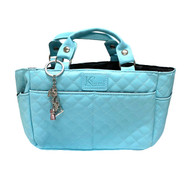 Kami-So Ice Skating Rink Tote (Cloud Nine) with Turquoise/Pink Crystal Skate Key Chain