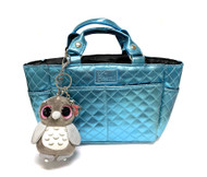 Kami-So Ice Skating Rink Tote (Aquamarine) with Owl Key Chain
