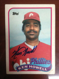 SOLD 942 Ken Howell Autographed 1989 Topps Traded #54T