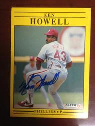 Ken Howell Autographed 1991 Fleer  #400