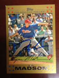 Ryan Madson Autographed 2007 Topps #406 0207/2007