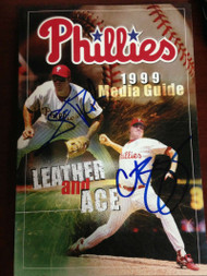 Scott Rolen and Curt Schilling  Autographed 1999 Phillies Media Guide