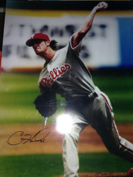Cole Hamels Autographed 16 x 20 Phillies Photo