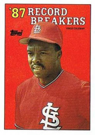 1988 Topps #1 Vince Coleman RB NM-MT St. Louis Cardinals