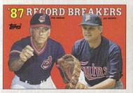 SOLD 10663 1988 Topps #5 Phil Niekro/Joe Niekro RB NM-MT Cleveland Indians/Minnesota Twins