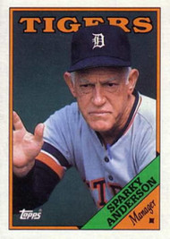 SOLD 10672 1988 Topps #14 Sparky Anderson MG NM-MT Detroit Tigers