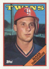1988 Topps #19 Mark Davidson NM-MT RC Rookie Minnesota Twins