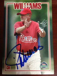 Jimy Williams Autographed Phillies Team Issued Postcard