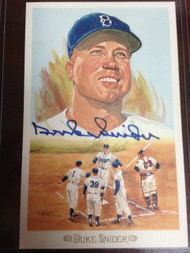 Duke Snider Autographed Perez Steele Celebration Postcard