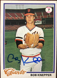 Bob Knepper Autographed 1978 Topps #589 Rookie Card