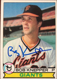Bob Knepper Autographed 1979 Topps #486