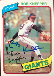 Bob Knepper Autographed 1980 Topps #111