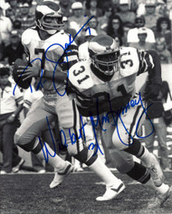 Ron Jaworski and Wilbert Montgomery Autographed 8 x 10 Photo