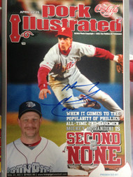 Mickey Morandini Autographed Lehigh Valley Ironpigs Pork Ilustrated