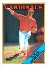 1988 Topps #715 Todd Worrell NM-MT St. Louis Cardinals