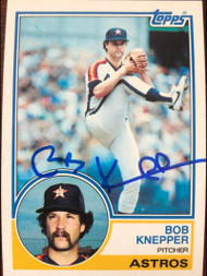 Bob Knepper Autographed 1983 Topps #382