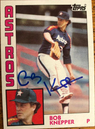 Bob Knepper Autographed 1984 Topps #93