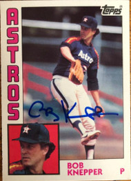 Bob Knepper Autographed 1984 Topps Tiffany #93