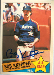 Bob Knepper Autographed 1985 Topps Tiffany #721