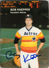 Bob Knepper Autographed 1985 Astros Mother's Cookies #20