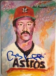 Bob Knepper Autographed 1986 Astros Mother's Cookies #22